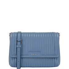Gansevoort Pinstripe Leather Crossbody