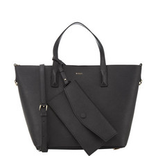 Bryant Park Leather Bucket Tote