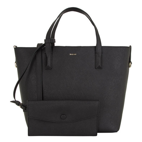Bryant Park Leather Bucket Tote, ${color}