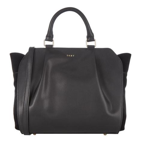Suede Side Satchel Bag, ${color}