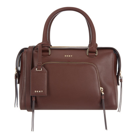 Greenwich Smooth Leather Satchel, ${color}