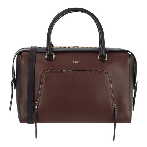 Greenwich Smooth Leather Satchel Large, ${color}