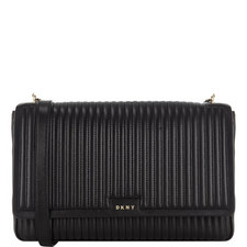 Gansevoort Pinstripe Shoulder Bag Large
