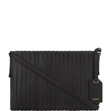 Stripe Pleat Crossbody