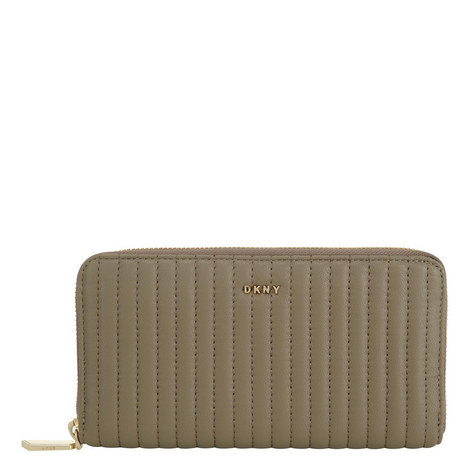 Gansevoort Pinstripe Quilted Wallet, ${color}