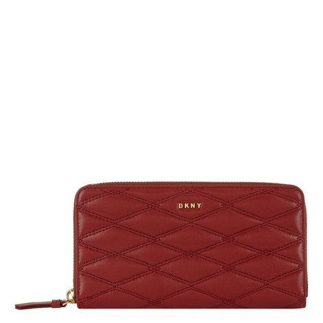 Quilted Leather Wallet Large, ${color}
