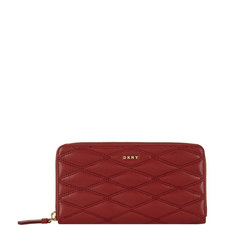 Quilted Leather Wallet Large