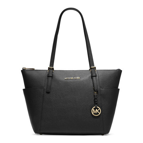 Jet Set East West Saffiano Tote, ${color}