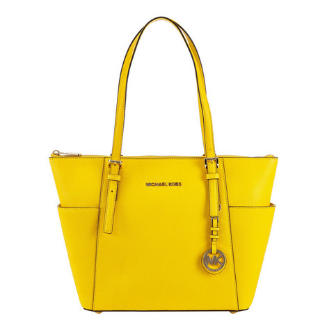 Jet Set Travel Top Zip Tote, ${color}