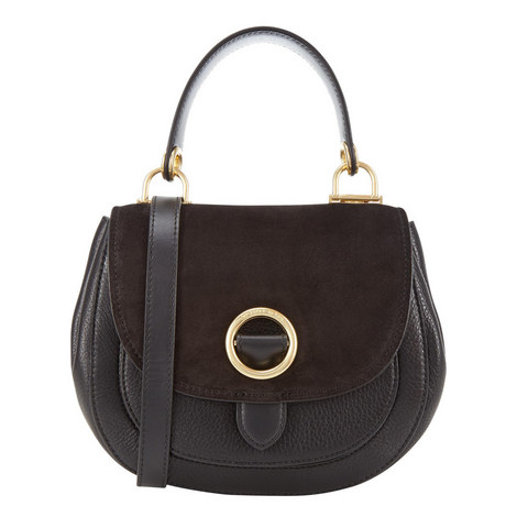 Isadore Suede Saddle Bag Medium, ${color}