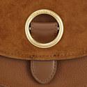 Isadore Suede Saddle Bag Medium, ${color}