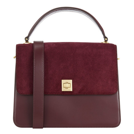 Natalie Suede Satchel Medium, ${color}