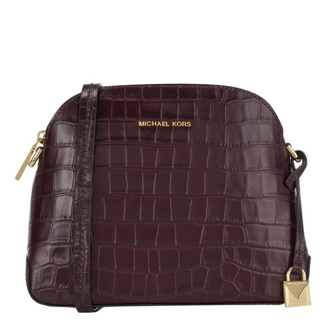 Mercer Dome Crocodile-Embossed Crossbody, ${color}