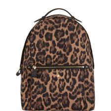 Kelsey Leopard Print Backpack