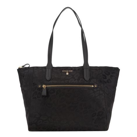 Kelsey Leopard Print Tote Bag Large, ${color}