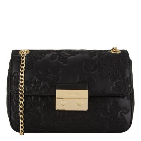 Sloan Lace Leather Shoulder Bag, ${color}