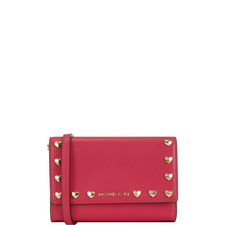 Ruby Love Heart Clutch Medium
