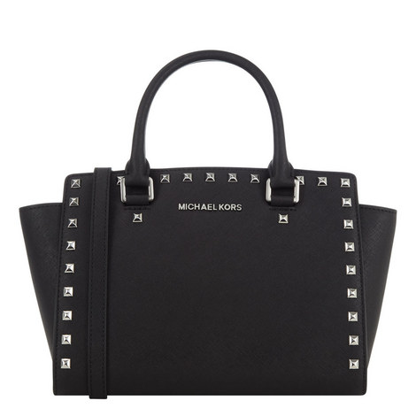 Selma Studded Messenger Medium, ${color}