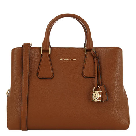Camille Leather Satchel Large, ${color}