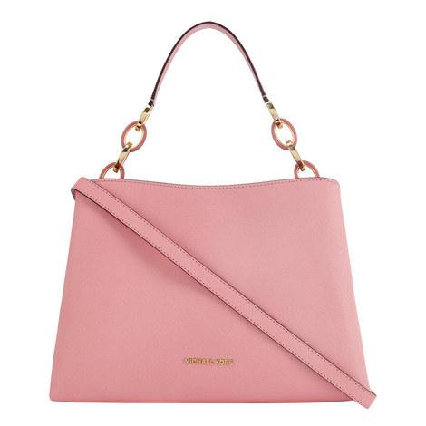Portia Leather Shoulder Bag Large, ${color}