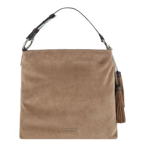 Elyse Suede Shoulder Bag Large, ${color}