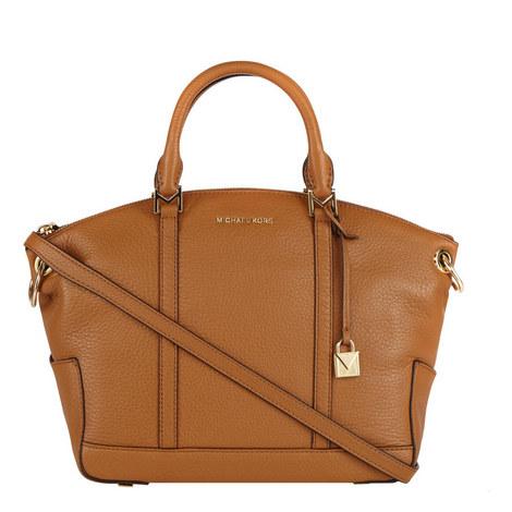 Beckett Leather Satchel Medium, ${color}