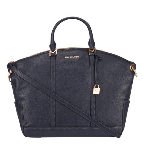 Beckett Leather Satchel Large, ${color}