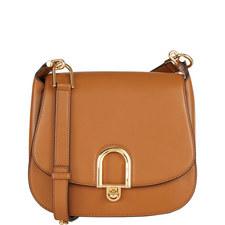 Delfina Leather Saddle Bag Large