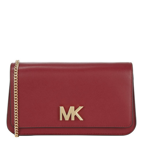 Mott Large Leather Clutch, ${color}
