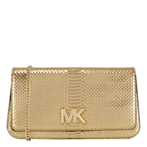 Mott Large Snake-Embossed Clutch , ${color}