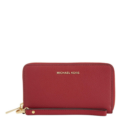 Mercer Continental Leather Wristlet, ${color}