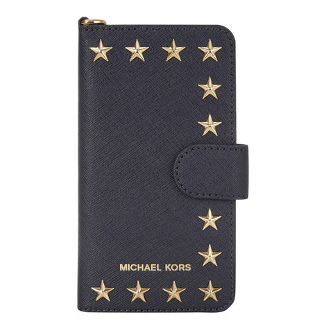 Star Studded Folio iPhone 7 Case, ${color}