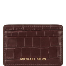 Croco Leather Card Holder