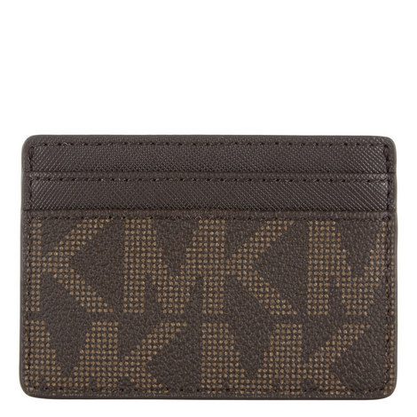 Jet Set Logo Leather Cardholder, ${color}