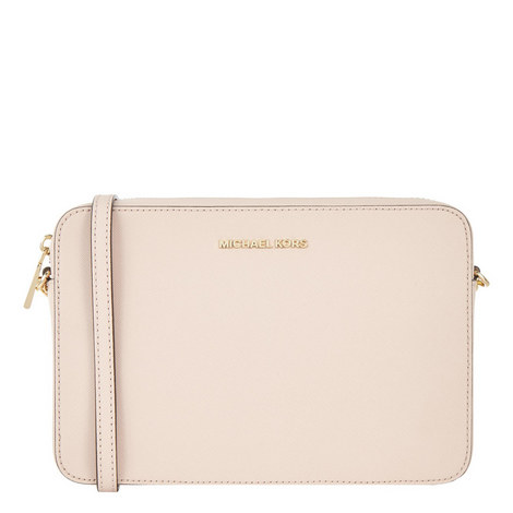 Jet Set Saffiano Leather Crossbody, ${color}