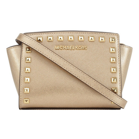 Selma Stud Detail Messenger Mini, ${color}