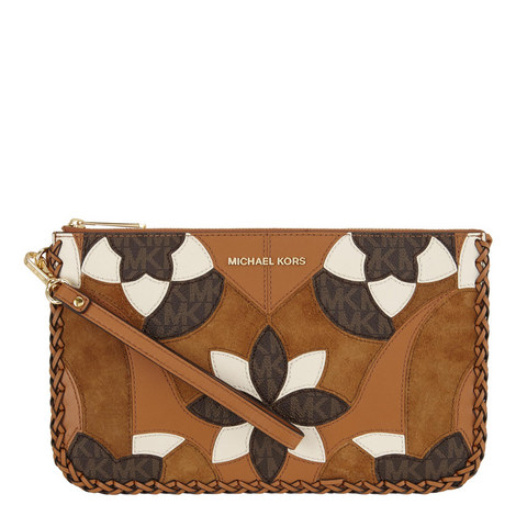 Daniella Patchwork Wristlet, ${color}