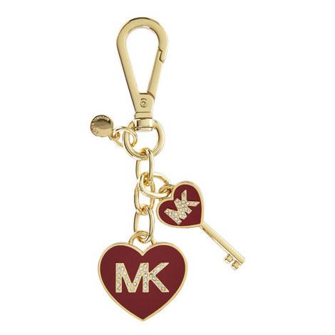 Heart Charm Keyring, ${color}
