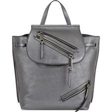 Zip Pocket Leather Backpack
