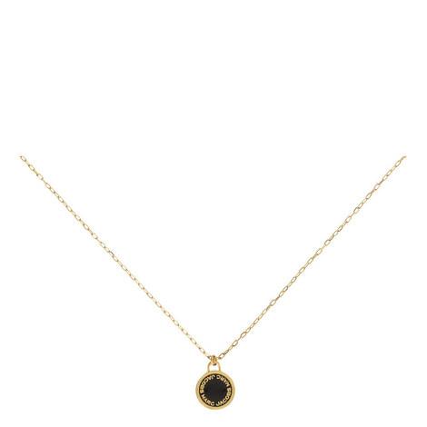 Logo Disc Necklace, ${color}