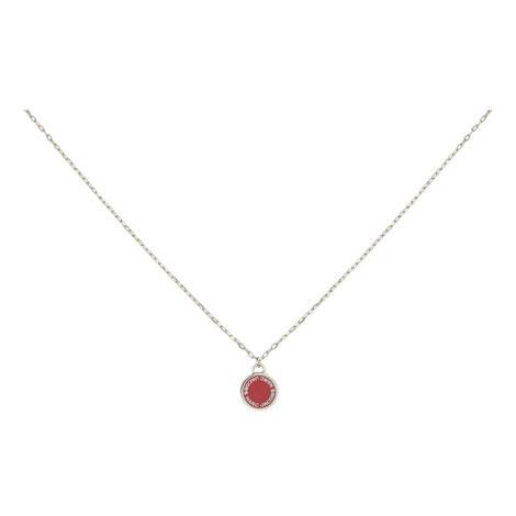 Logo Disc Pendant Necklace, ${color}