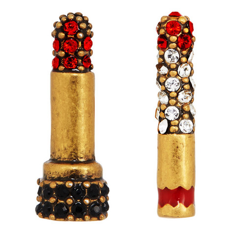 Lipstick Cigarette Stud Earrings, ${color}