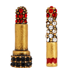 Lipstick Cigarette Stud Earrings