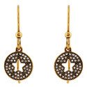 Pavé Star Earrings, ${color}