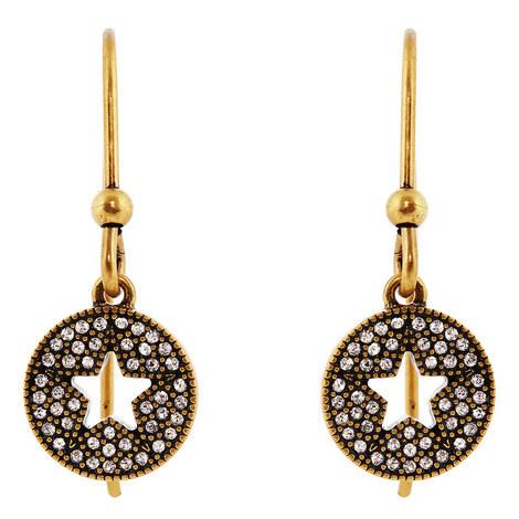 Pavé Star Earrings, ${color}