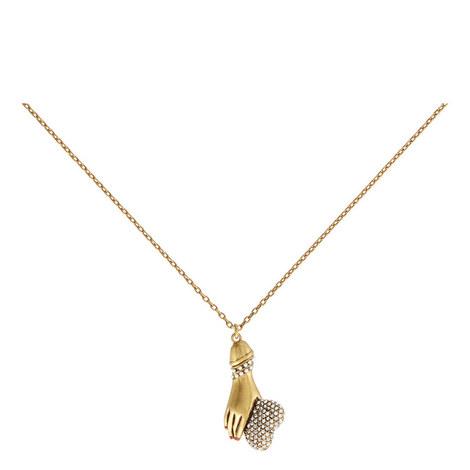 Hand Pendant Long Necklace, ${color}