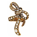 Crystal Bow Wrap Ring, ${color}
