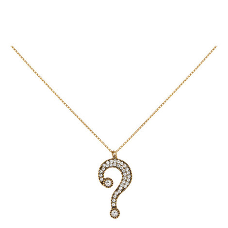Question Mark Pendant Necklace, ${color}