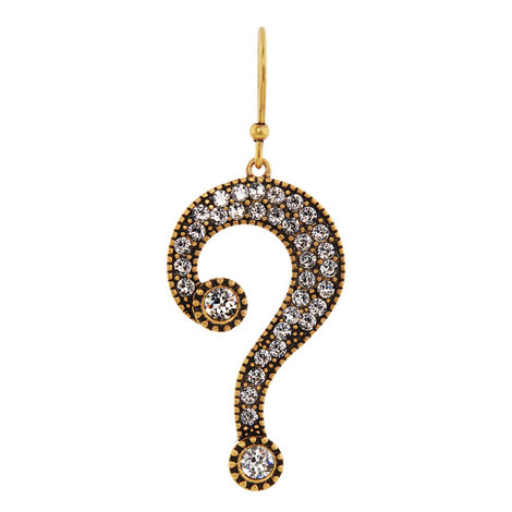 Question Mark Single Earring, ${color}
