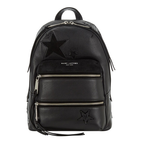 Star Patchwork Leather Backpack, ${color}